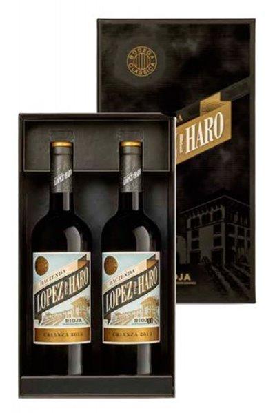 Estuche 2 Botellas Hacienda López de Haro Crianza