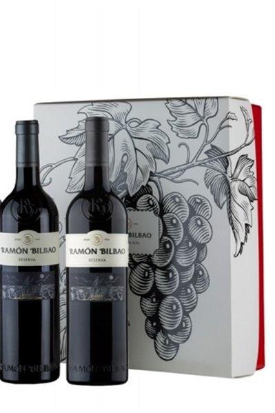 Estuche 2 botellas Ramón Bilbao reserva
