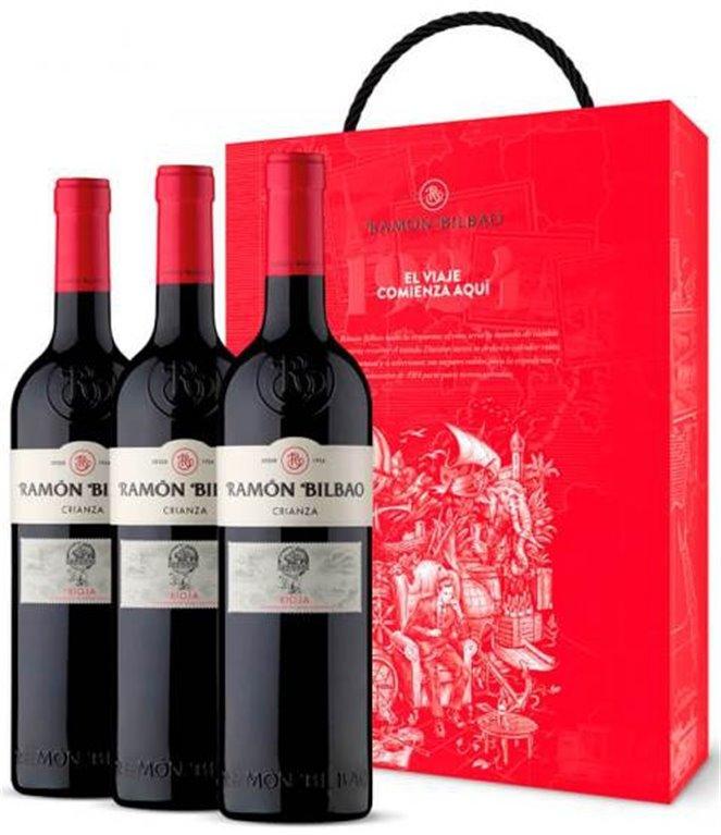 Estuche 3 botellas Ramón Bilbao crianza 2017