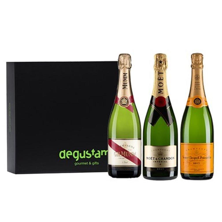 Estuche con Trio de Champagnes, 1 ud