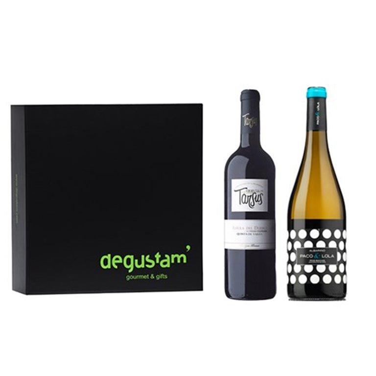 Estuche con Vinos Albariño y Ribera del Duero, 1 ud