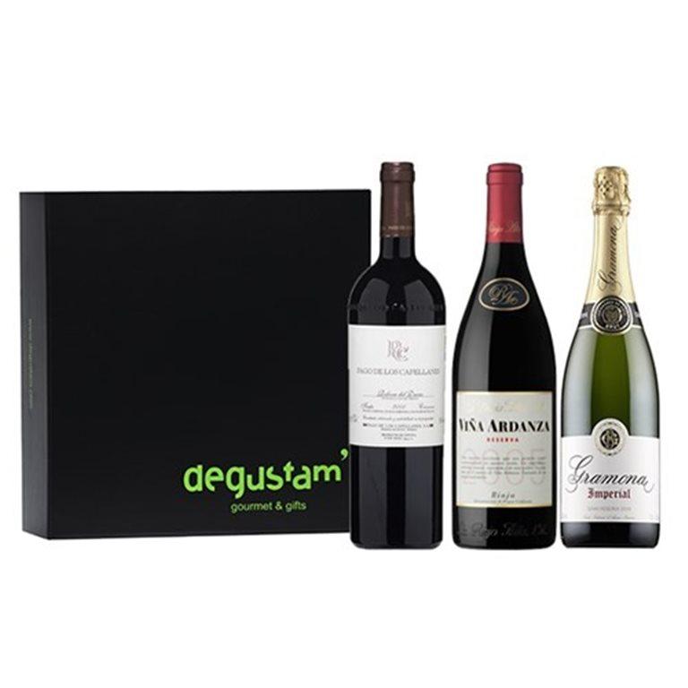 Estuche con vinos Rioja, Ribera del Duero y Cava, 1 ud
