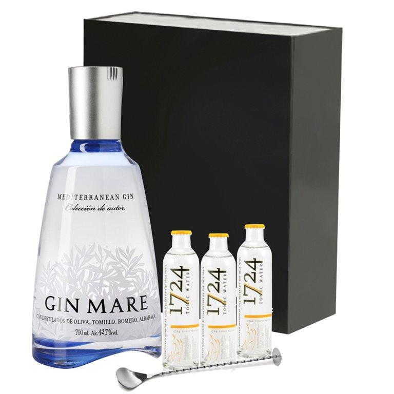Estuche Gin Mare + Toníca 1724 + Cucharilla Cocteleria