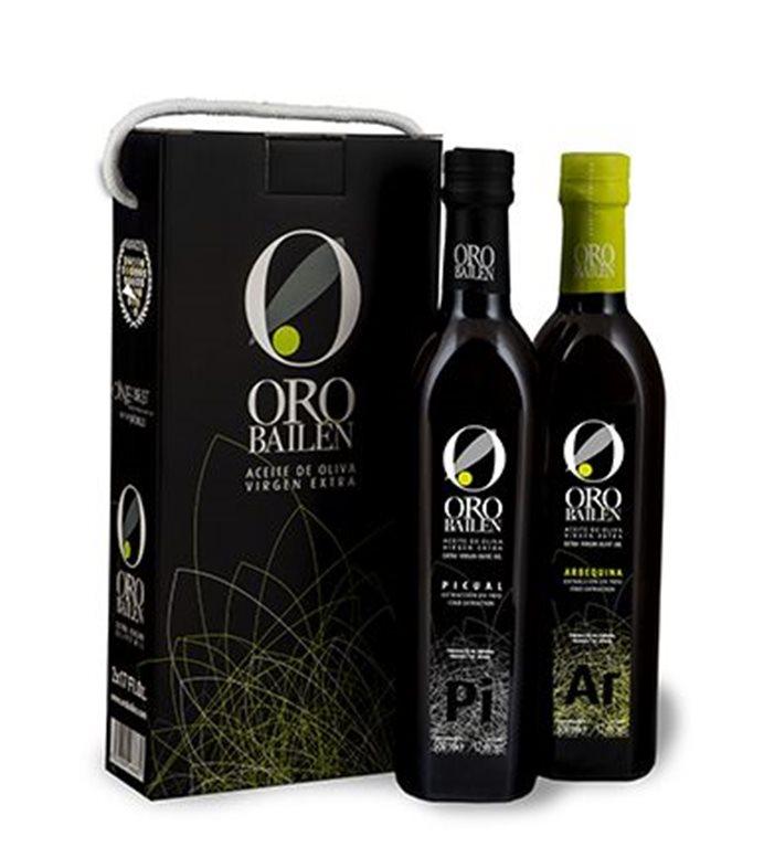 Estuche Oro Bailen. Estuche con 2 botellas de 750 ml.