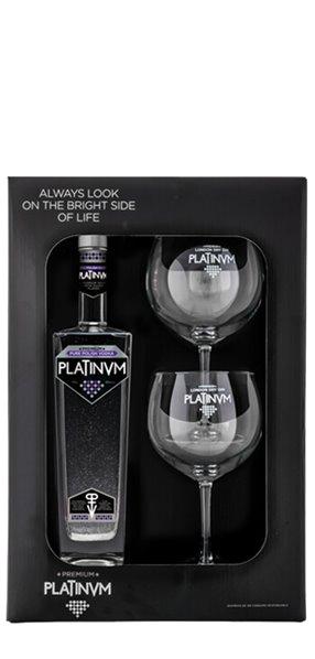Estuche Vodka&Caviar Platinvm + 2 Copas de Balón