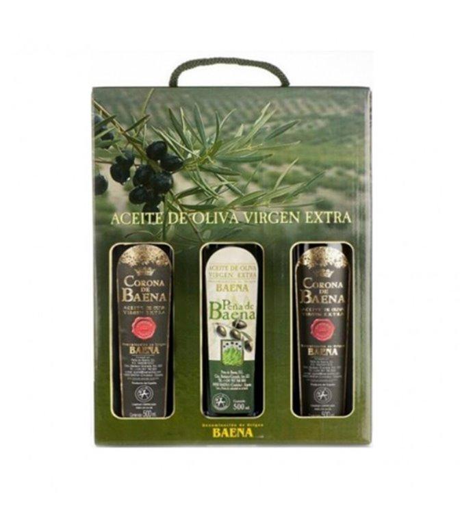 Estuches de 3 Botellas AOVE Peña Baena