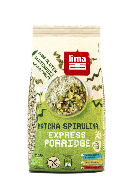 Express Porridge con Matcha Spirulina, 350 gr