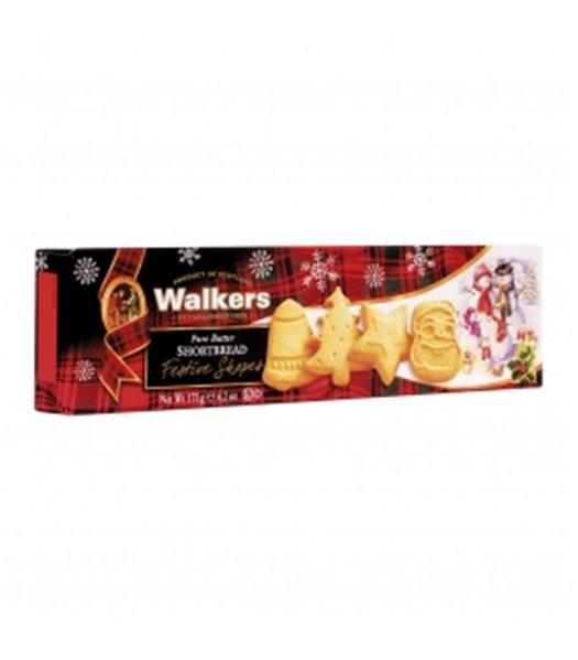 Festive Shapes Shortbread 175gr. Walkers. 12un.