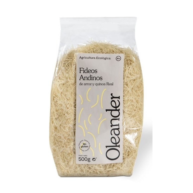 Fideos Andinos de Arroz y Quinoa Sin Gluten Bio 500g