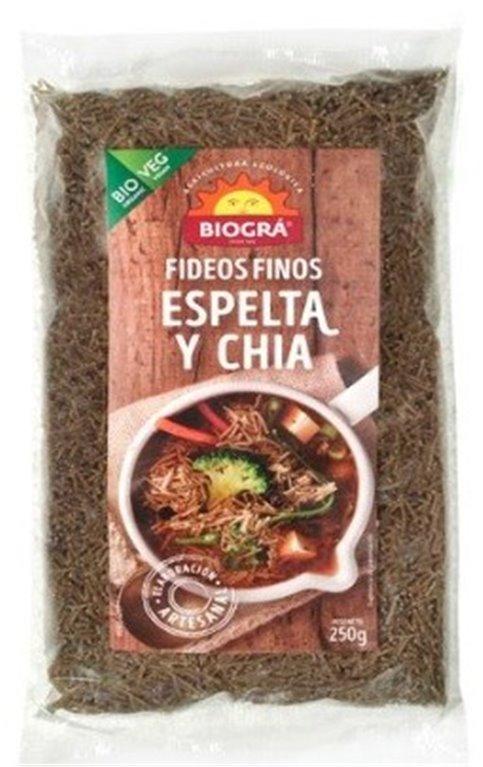 Fideos Finos de Espelta y Chia Bio 250g