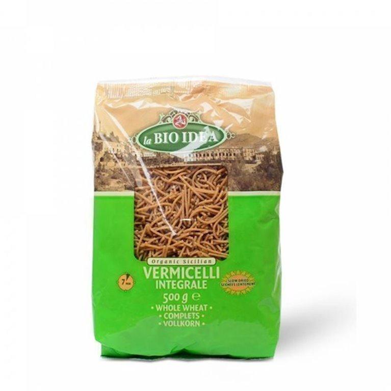 Fideos integrales de trigo, 500 gr