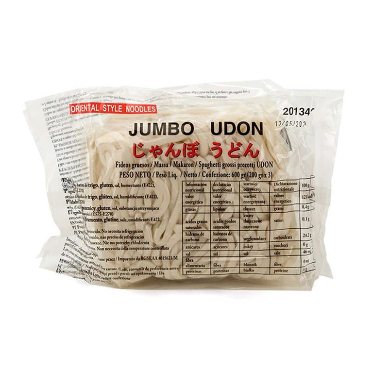 Jumbo Udon Noodles 3 units of 200g Precooked