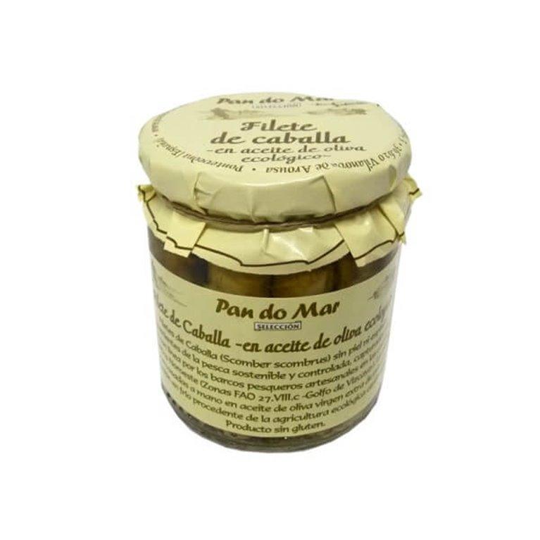 Filete de caballa en aceite de oliva (Vidrio), 220 gr