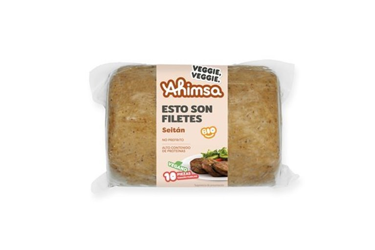 Filete Vegetal (Seitán) Familiar Bio Ahimsa, 750 gr