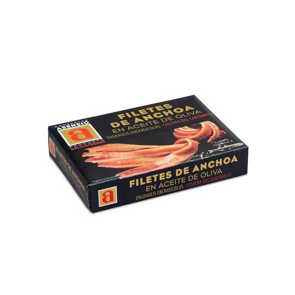 Filetes de anchoa del cantábrico en aceite de oliva lata 85g