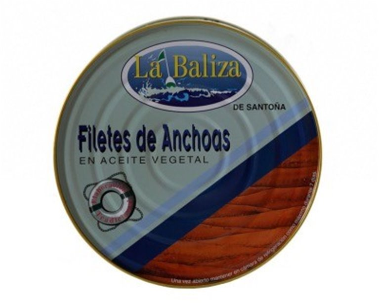 Filetes de anchoa en aceite vegetal La Baliza