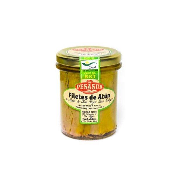 Filetes de Atún en AOVE BIO 195 g Pesasur