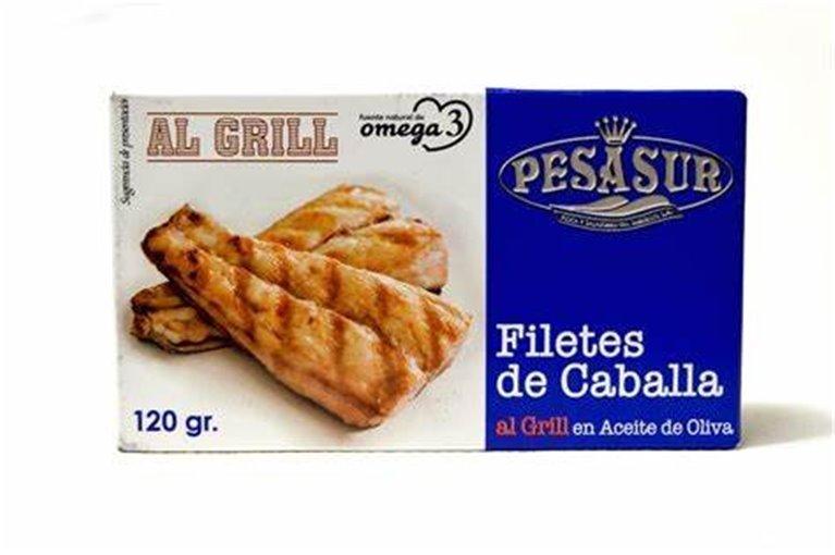 Filetes de caballa de Andalucia al grill en aceite Pesasur