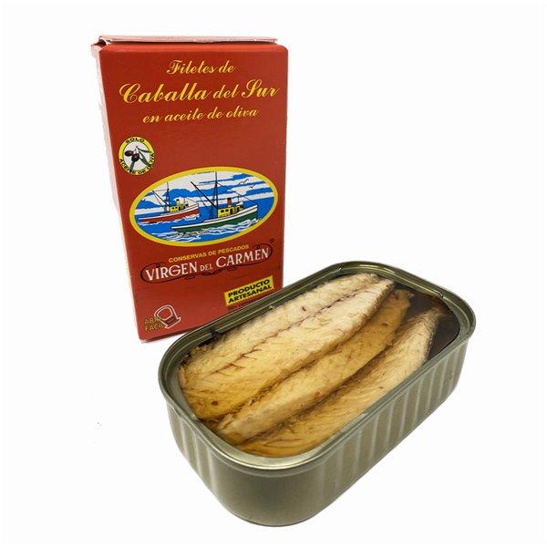Filetes de caballa del sur en aceite de oliva 120 g Conservas Virgen del Carmen
