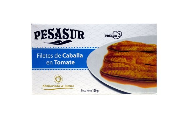 Filetes de caballa en tomate Pesasur