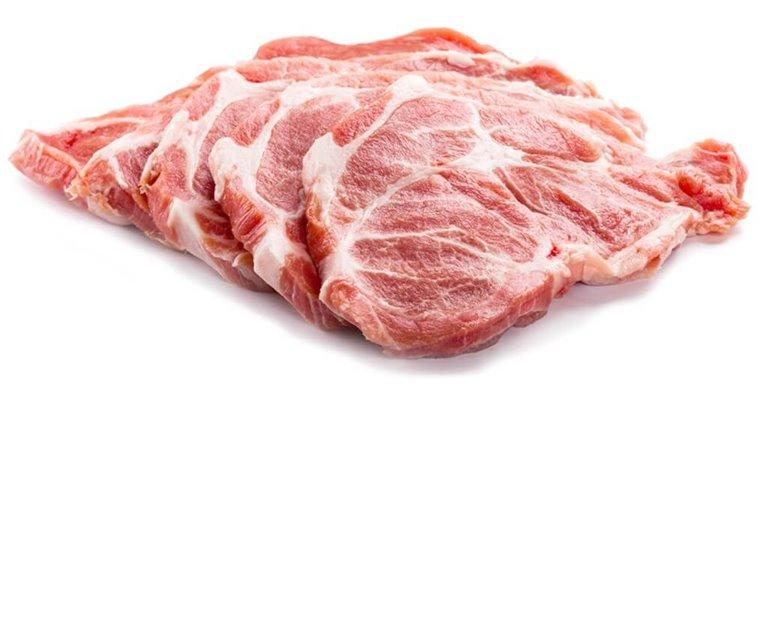 Filetes de cabezada de cerdo