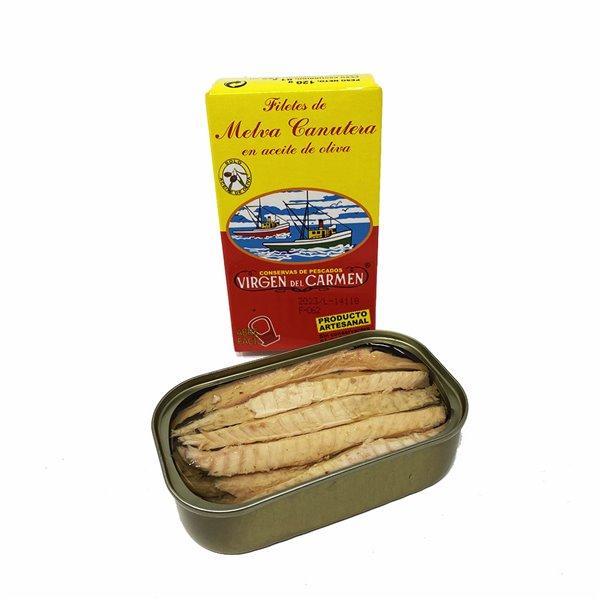 Filetes de Melva Canutera en aceite de oliva 120 g Conservas Virgen del Carmen