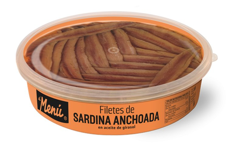 Filetes de Sardina Anchoada en Aceite de Girasol 850G