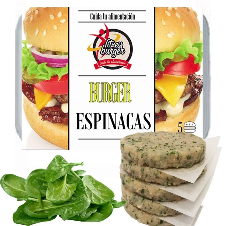FITNESS BURGER SPINACH