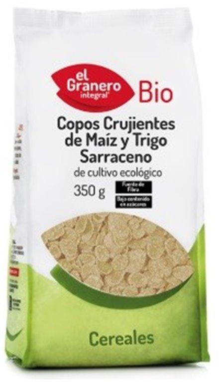 Flakes de Maíz y Trigo Sarraceno (Sin Azúcar) Bio 350g