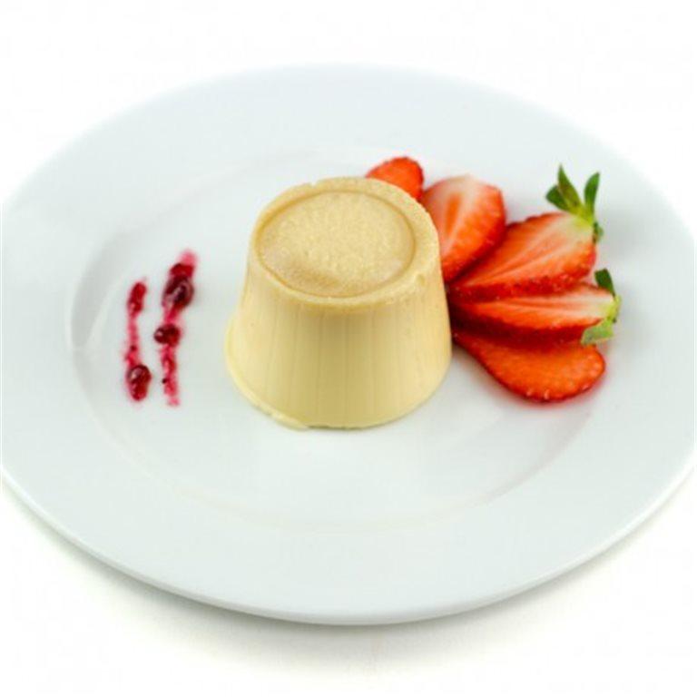 Flan de queso sin azúcar con edulcorantes