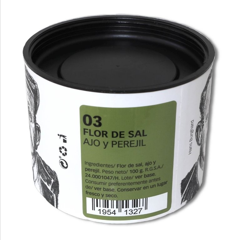 Flor de Sal with Garlic and Parsley 100 g.