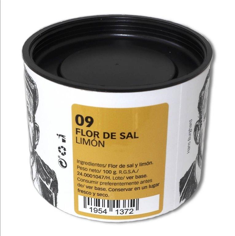 Flor de Sal with Lemon 100 g.