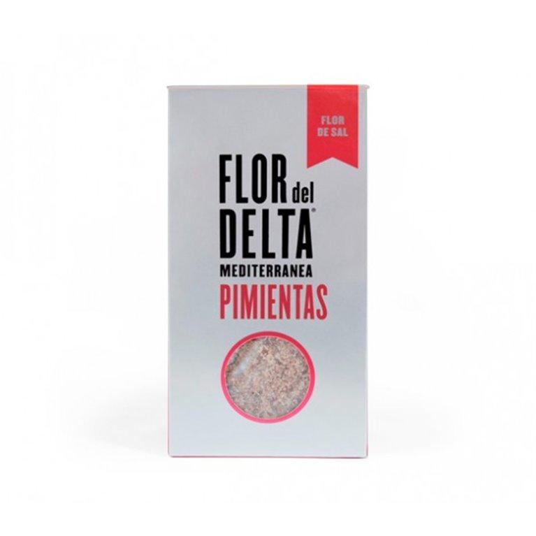 Flor de Sal con Pimientas Flor del Delta 125 gr, 1 ud