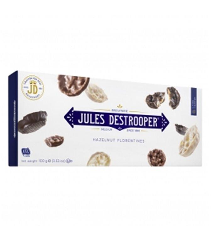 Florentinas Avellanas y Arroz recubiertas de Chocolate 100gr. Jules Destrooper. 12un.