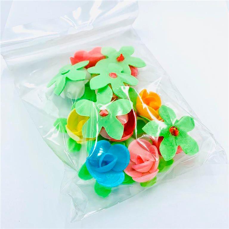 Flores de oblea en bolsa