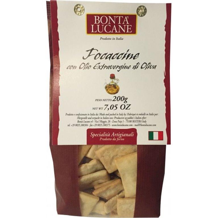 Focaccine con Aceite de Oliva Virgen Extra 200 gr., 1 ud