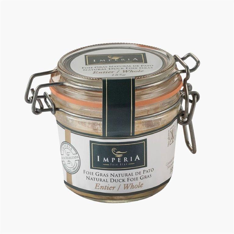 Foie gras natural de pato 185 g Imperia