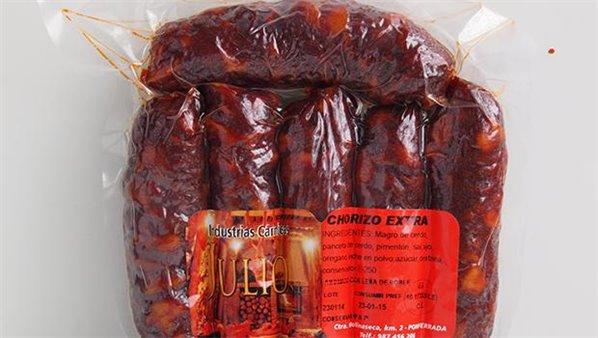 Chorizo extra curado Julio 500gr aprox