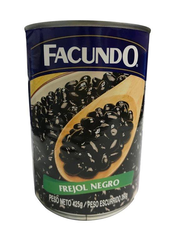 FRIJOL NEGRO FACUNDO LATA 425 GR