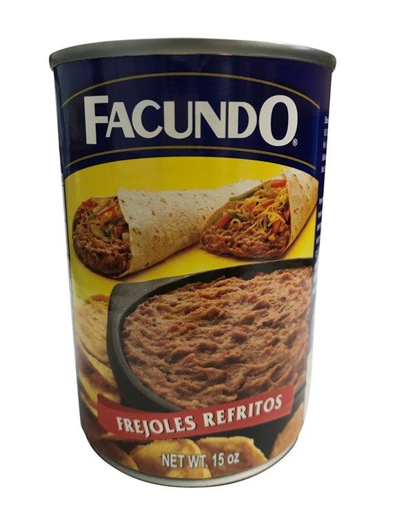 FRIJOL REFRITO FACUNDO LATA 425 GR