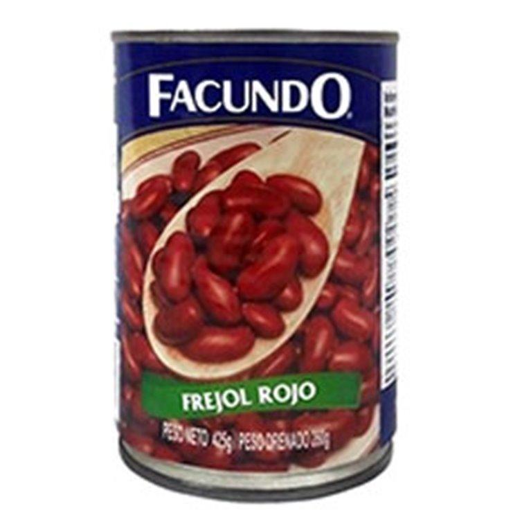 FRIJOL ROJO FACUNDO 425GR