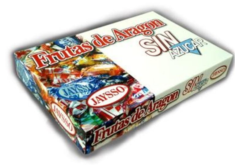 Fruits of Aragon without sugar Jaysso box 1500gr