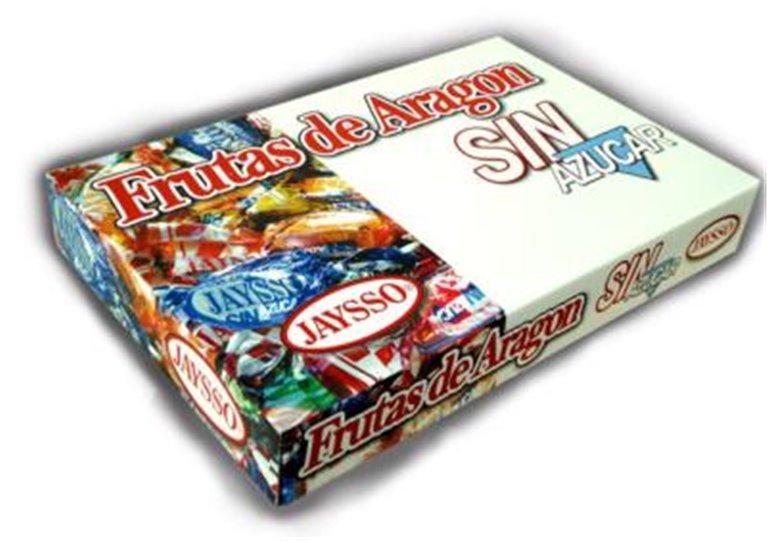 Frutas de Aragón sin azúcar Jaysso caja 1500gr, 1 ud
