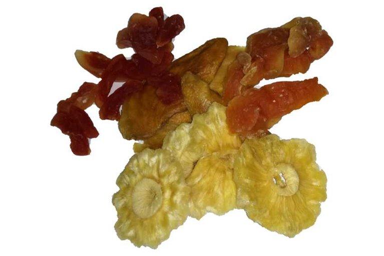 Frutas deshidratadas sin azúcar añadido