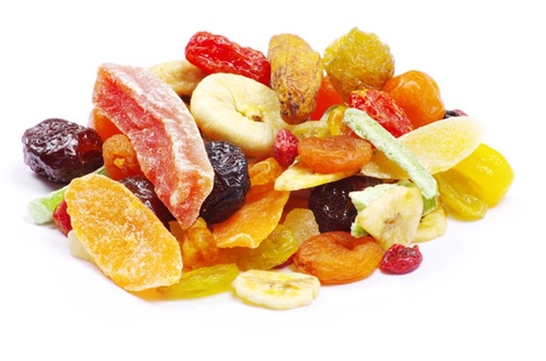 Frutas deshidratadas variadas