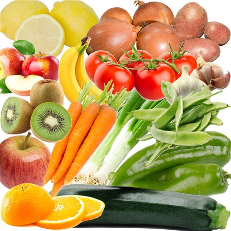 Frutas y Verduras ecológica, 6,50 kg