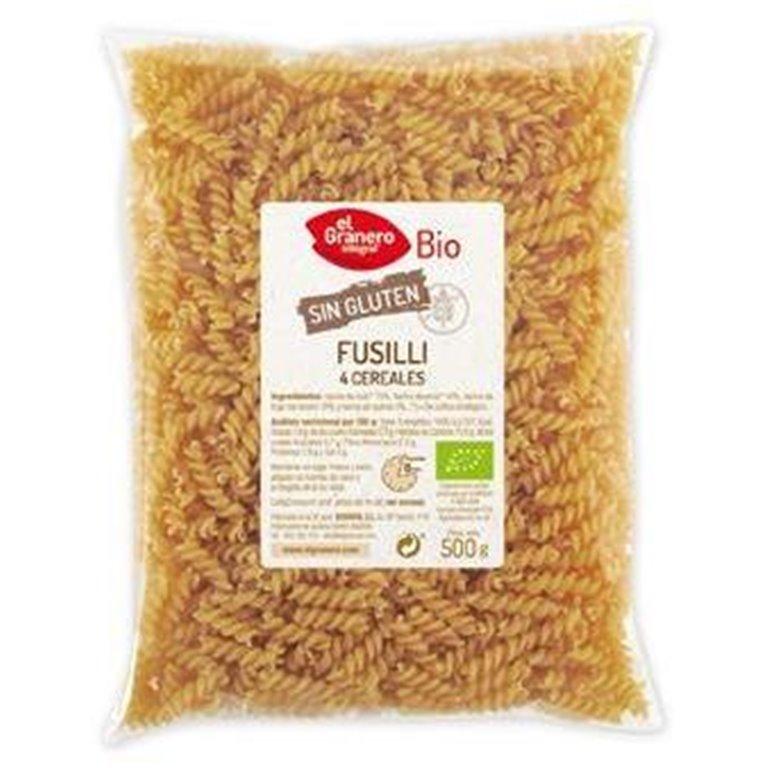 Fusilli 4 Cereales Sin Gluten Bio 500g, 1 ud