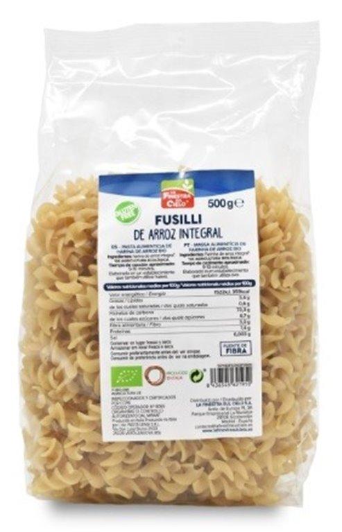 Fusilli de Arroz Integral Sin Gluten Bio 500g