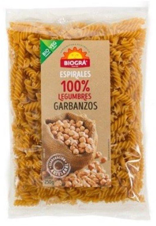 Fusilli de Garbanzos Bio 250g, 1 ud