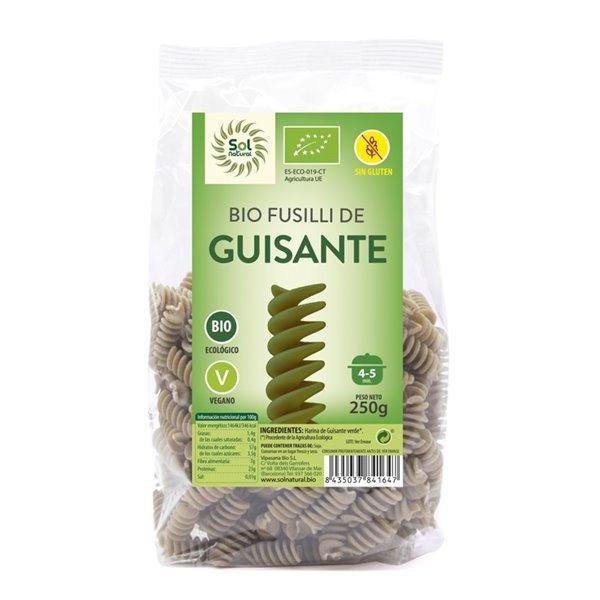 Fusilli de Guisante Verde Sin Gluten Bio 250g